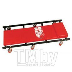 Лежак ремонтный подкатной на 6-ти колесах с регулируемым подголовником (425х125мм) Forsage F-TR6452