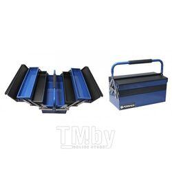 Ящик инструментальный складной с мягкой противоскользящей накладкой на ручке,5 отделений Forsage F-1141713