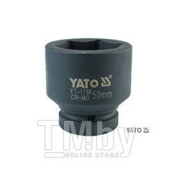 """Головка ударная 1"""" 6гр. 34мм L61мм CrMo Yato YT-1189"""