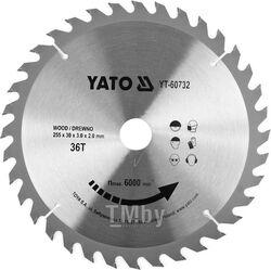 Диск пильный с напаянными зубцами из твердых сплавов 255/30 36T Yato YT-60732