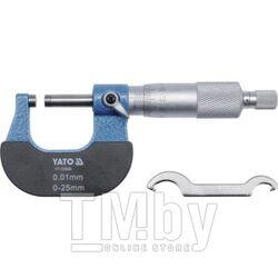 Микрометр 0-25мм Yato YT-72300