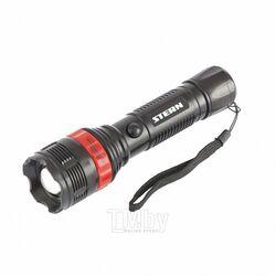 Фонарь бытовой, пластиковый корпус, 3 Вт LED, ремешок, зум, 3 режима 100%-50%-строб, 3хААА Stern 90572